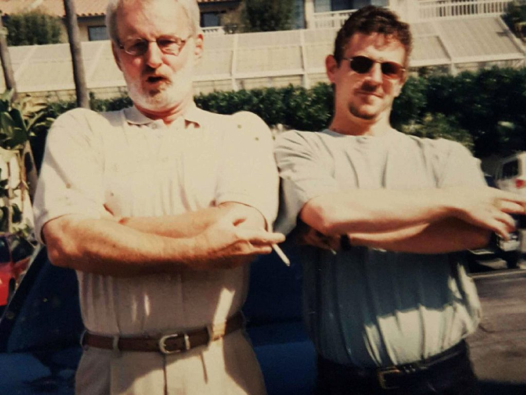 Pop and I in studly mode, circa 1995.